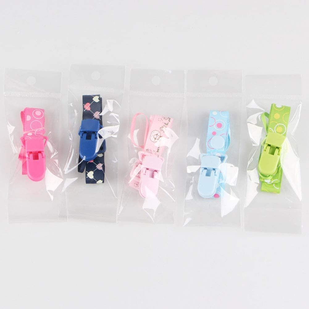 Meiyiu Pacifier Clips for Boys and Girls Baby Adjustable Pacifier Holder Anti-Drop Toy Clip Lanyard G