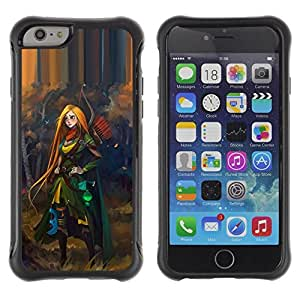 Suave TPU GEL Carcasa Funda Silicona Blando Estuche Caso de protección (para) Apple Iphone 6 PLUS 5.5 / CECELL Phone case / / redhead hero woman adventure kids /