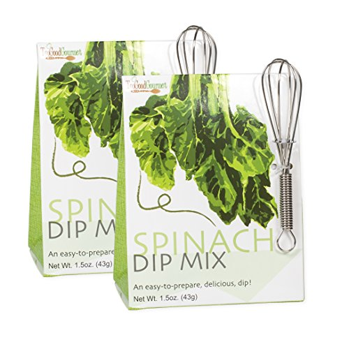 Spinach Bacon 1.5 Ounce Vegetable Dip Mix with Mini Whisk 2 Pack