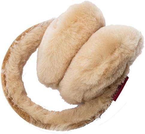 Lammfell Ohrenwärmer Ohrenschützer JULIA mit Kopfhörer/Headset Unisex für Damen Herren Kinder