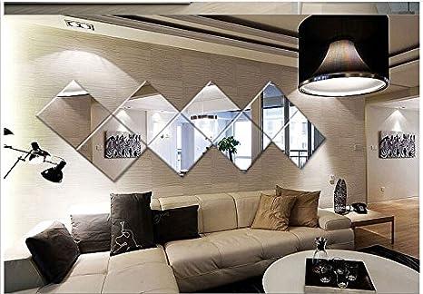 Pz specchio quadrato parete piastrelle adesivi d la decalcomania