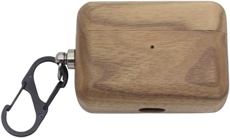 Khcr Caja de Madera/bambú para Apple Airpods Pro Estuche rígido para AirPods 3,Estuche Auricular Bluetooth inalámbrico Cubierta a Prueba de Golpes [LED Frontal Visible],Blackwalnut: Amazon.es: Deportes y aire libre