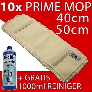 Prime Mop Best, 40 cm 10 St/ück 50cm//40cm Profi Baumwolle Wischmop Baumwollmop Bodenwischer Wischmopp