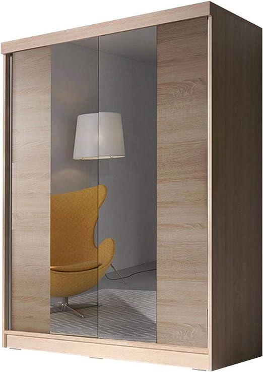 Idzczak Meble Bono hasta 02 Armario Armario de Puertas correderas 160 cm Dormitorio de salón Armario Armario diseño Moderno: Amazon.es: Juguetes y juegos