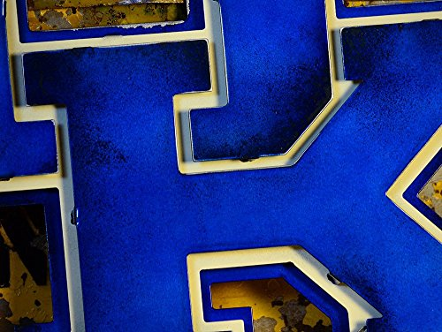 Gear New University of Kentucky 3D Vintage Metal College Man Cave Art, Large, Blue/White/Brown by Gear New (Image #6)