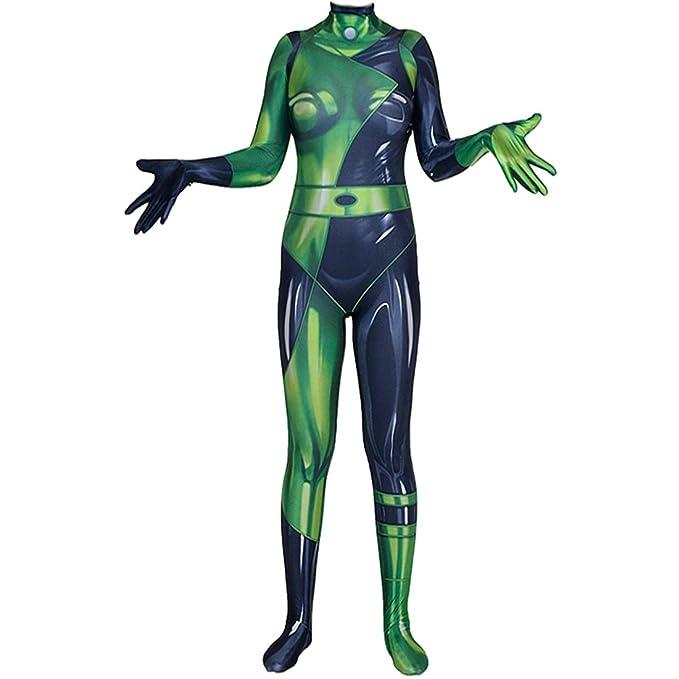Amazon.com: Leaffly - Traje para mujer Shego Cosplay Zentai ...