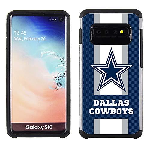 Samsung S10 - NFL Licensed Dallas Cowboys - Pebble Grain Striped Protective ()