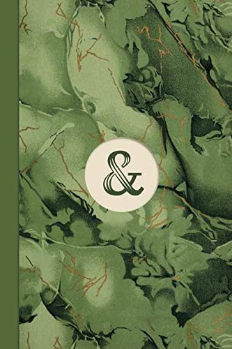 Monogram Symbol Ampersand Memo Marble Notebook (Leafy Green Edition): Blank Lined Journal for Writing: Reminders, Lists, Tasks, Agendas, Tracking, Motivation & Memos