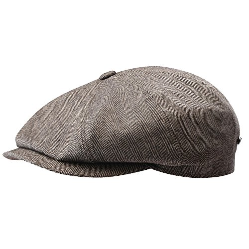 Stetson Men's Cashmere Silk Blend 8/4 Cap with Lining, Brown, Large