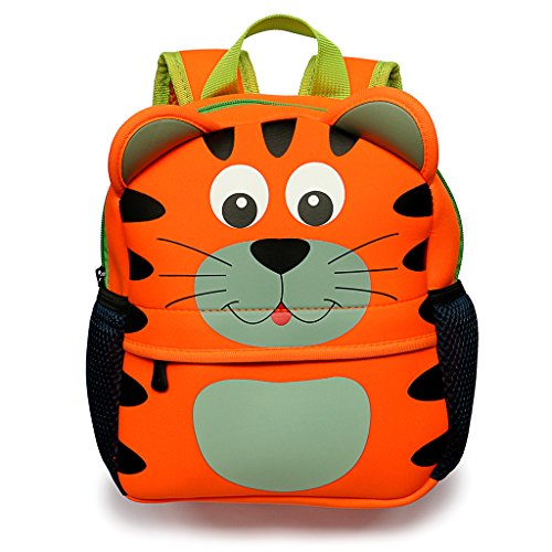 Child Tiger - Hipiwe Little Kid Toddler Backpack Baby Boys Girls Kindergarten Pre School Bags Cute Neoprene Cartoon Backpacks for Children 1-5 Years Old (Tiger)