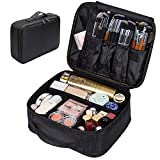 Portable Makeup Bag, FLYMEI Make Up Bag Large Capacity Train Case, Professional Makeup Artist Case, Waterproof Travel Organizer Case for Wmen/Girls, Travel Makeup Bag