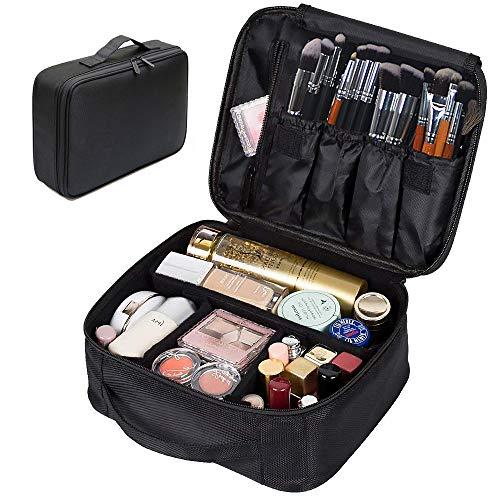 Portable Makeup Bag, FLYMEI Make Up Bag Large Capacity Train Case, Professional Makeup Artist Case, Waterproof Travel Organizer Case for Wmen Girls, Travel Makeup Bag