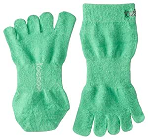 ToeSox Sport Perfdry Ultralite Weight Ankle Socks, Medium, Green