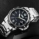 Mens-Stainless-Steel-Band-Analog-Quartz-Unique-Business-Casual-Waterproof-Dress-Wrist-Watch-Classic-Design-Calendar-Date-Window-Black