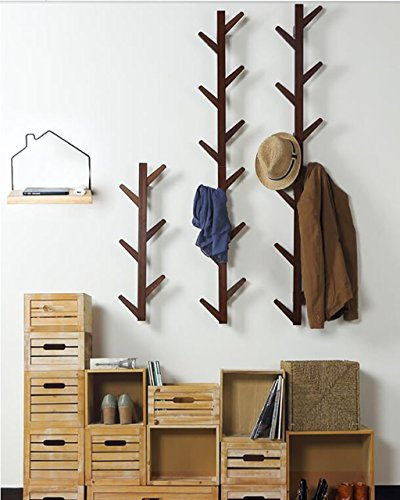 Ymj Coat Rack Garment Hanger Creative On The Wall Solid Wood Hook Hanger Bedroom Wall Living Room Wall Hanger Drying Racks (Color : B, Size : 72278cm) by Ymj (Image #2)