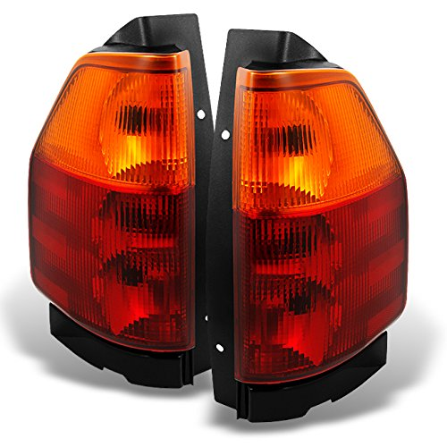 For GMC Envoy Red Clear Tail Light Tail Brake Light Lamp Replacement Assembly Completed Set Left + Right