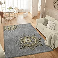 Ottomanson Studio Collection Medallion Design Area Rug, 50 X 60, Grey