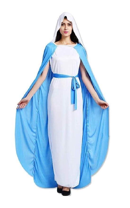 EVRYLON Disfraz de Mujer Virgen Virgen maría máscara Talla única ...