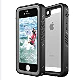 Meritcase Waterproof Case for iPhone 5/5s/SE, Full Body Protective IP 68 Waterproof Dropproof Dustproof Snowproof Rugged Cover with Sensitive Touchscreen and Touch ID for Swimming/Diving/Skiing