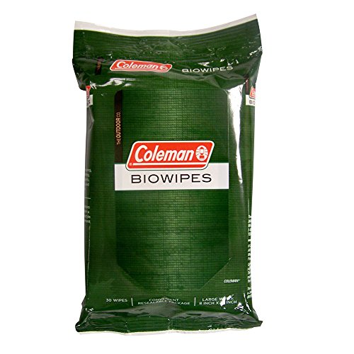 Used, Coleman Biowipes, 30 Count for sale  Delivered anywhere in USA