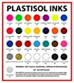 Ecotex Fluorescent RED Ink for Screen Printing - Non Phthalate Formula - All Sizes