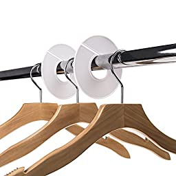 Delxo 50 Pack Clothing Rack Size Dividers Round Hangers Dividers -White