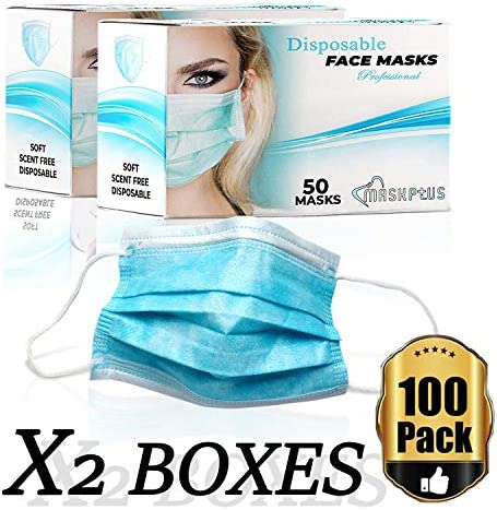 100 pack disposable medical sanitary surgical face mask