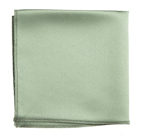 Sage Green Pocket Square Hanky Solid Colors Sized for Boys & Men By Tuxedo Park (Sage Green Satin)