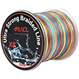 RUNCL Braided Fishing Line 8 Strands, Ultra Strong Braided Line - Smaller Diameter, Zero Memory, Zero Extension, Multiple Colors - 1093Yds/1000M 546Yds/500M 328Yds/300M 109Yds/100M Available
