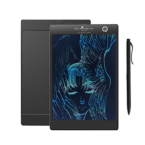 KOBWA 9.7 Inch Portable LCD Drawing Board Colorful Screen Writing Tablet Digital Handwriting Pad Notepad Graffiti Tool Magnetic Fridge Message Board Ewriter for Home Office Memo Kids Learning