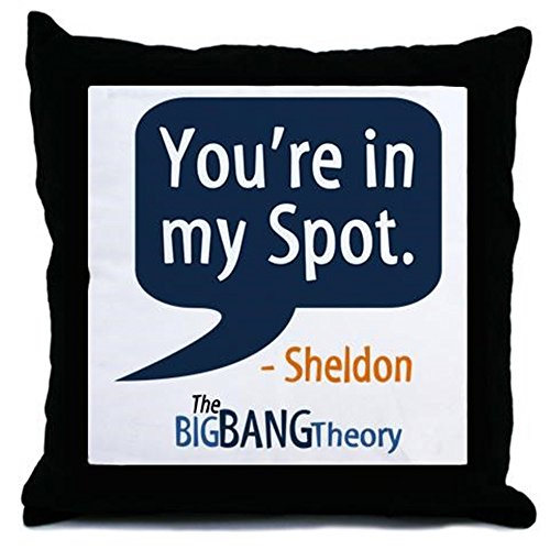 Cafepress Sheldon Cooper My Spot Throw Pillow   Standard Multi Color