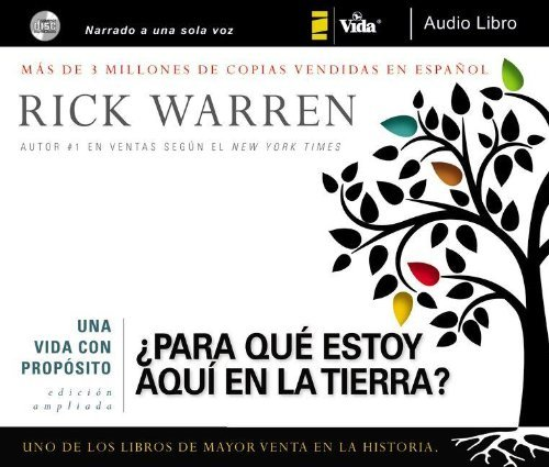 By Rick Warren The vida con propÇüsito audio libro CD (The Purpose Driven Life) (Spanish Edition) (Unabridged) [Audio CD] pdf epub