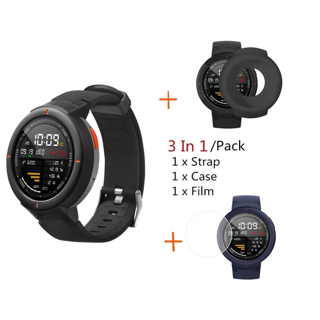 Amazon.com: Cywulin Silicone Sports Band for Huami Amazfit ...