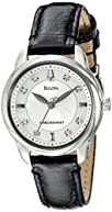 Bulova Women's 96P124 Precisionist Brightwater Leather strap Watch
