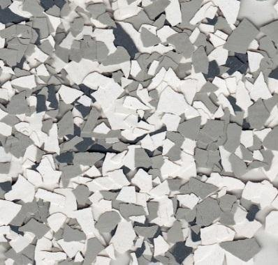 American Abrasive Supply, Vinyl Chip Blend B-602 Snowfall 1/4'' VCPBB60215