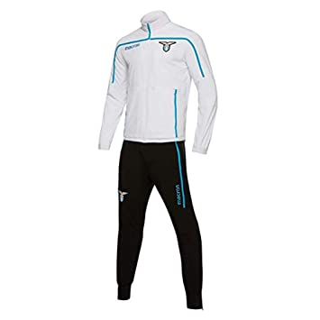 Macron 2018-2019 Lazio Presentation Tracksuit (White)  Amazon.co.uk  Sports    Outdoors dd07859d6