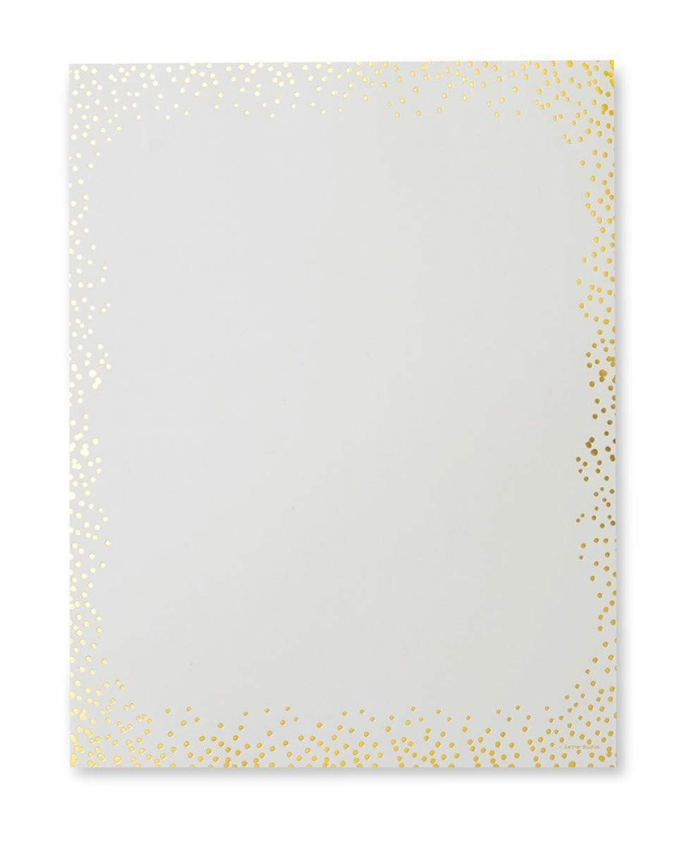 Ivory & Gold Dots Stationery (3)