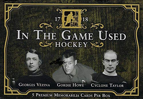 - 2017/18 Leaf In the Game Used Hockey box (FIVE Memorabilia cards)