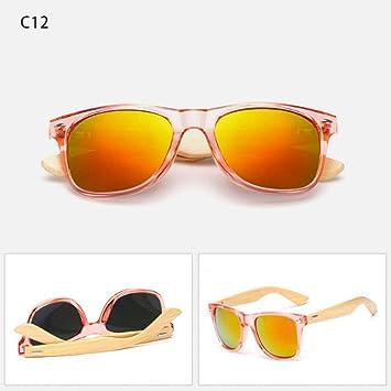 HYUHYU Gafas De Sol De Madera Retro Hombres Gafas De Sol De ...