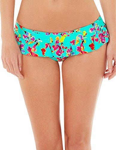Lepel Sunset Blue Floral Frill Low Rise Bikini Pant 157570 18 UK (44 EU)