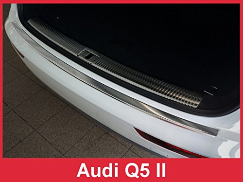 2018 Audi Q5 – Brushed Stainless Steel Rear Bumper Protector Guard