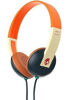 99f7ed82d2b Skullcandy Uproar Tap and Go On-ear Headphone with Mic, Orange / Cream (