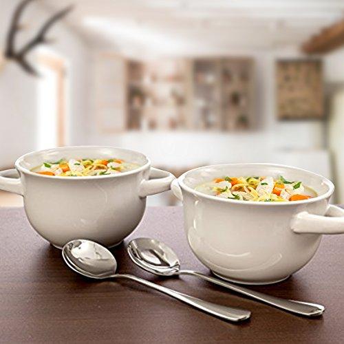 Crockpot 22-ounce Double Handle Soup Bowls, Set of 4 (White) by Crock-Pot (Image #1)
