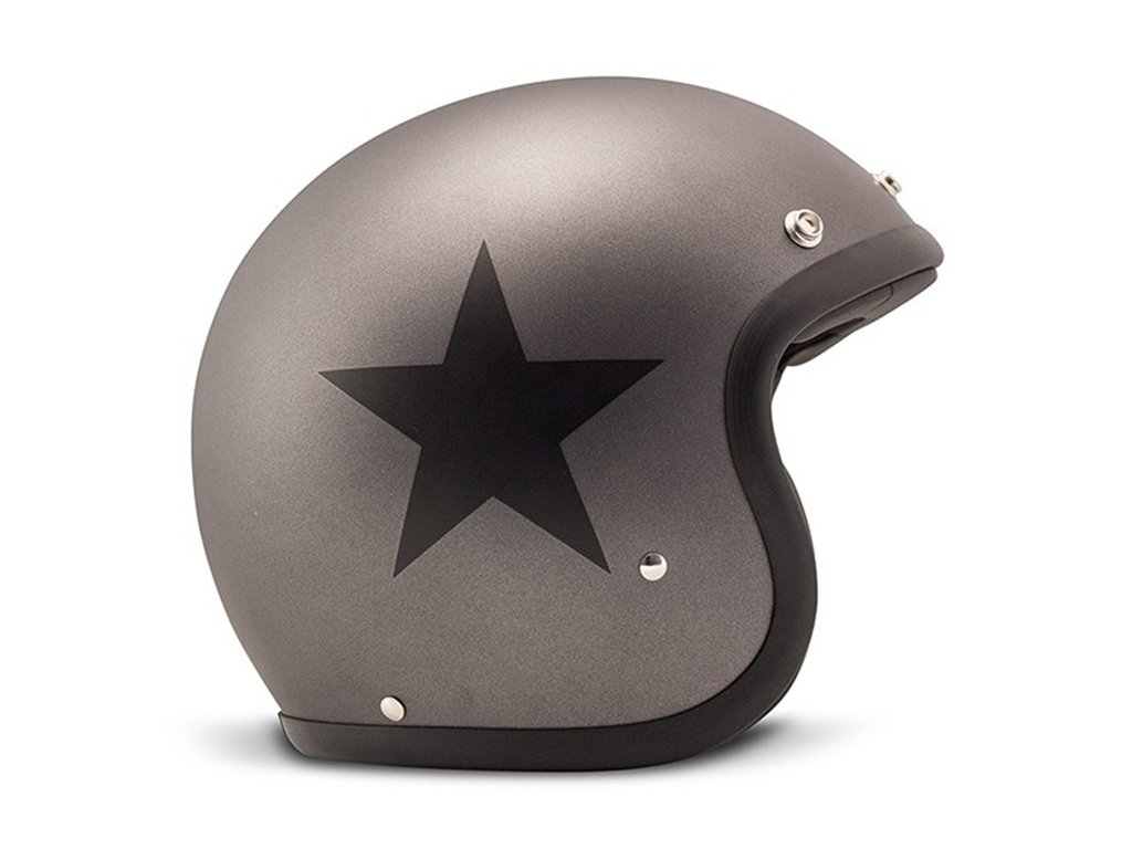 DMD Motorradhelm, Unisex Stern, Grau M grau