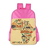 Africa Map And Tribal Ethnic Children School Backpack Carry Bag For Youth Boy Girl