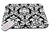 1 X Damask Black And White Mouse Pad