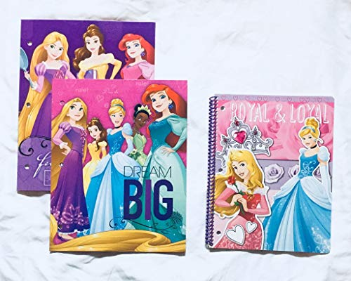 School Supplies- Princess''Dream'' 2 pk. Pocket Folders and Subject Notebook by hunted treasures