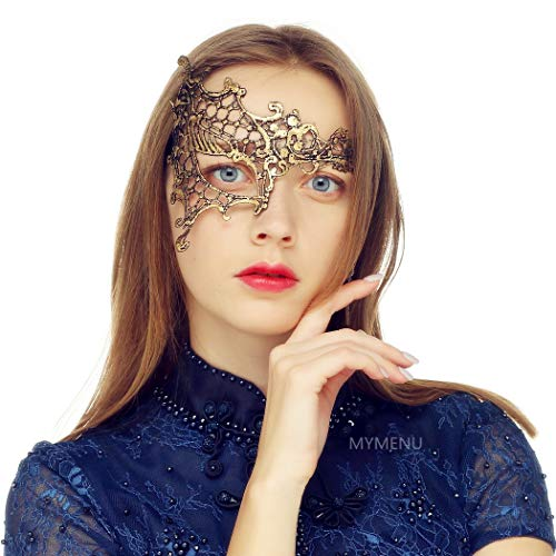 MYMENU Masquerade Mask for Women Luxury Venetian Mask Women