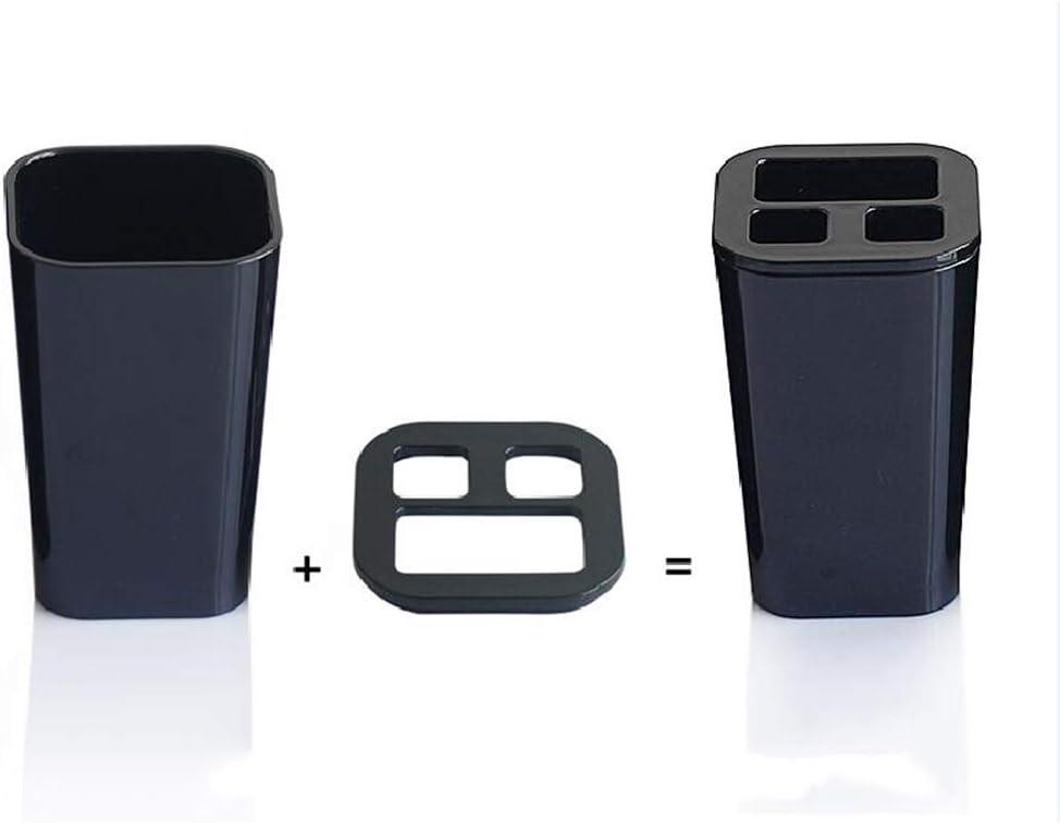 portaspazzolino in plastica portasapone Set di 4 Accessori da Bagno TOBATHY Design Quadrato