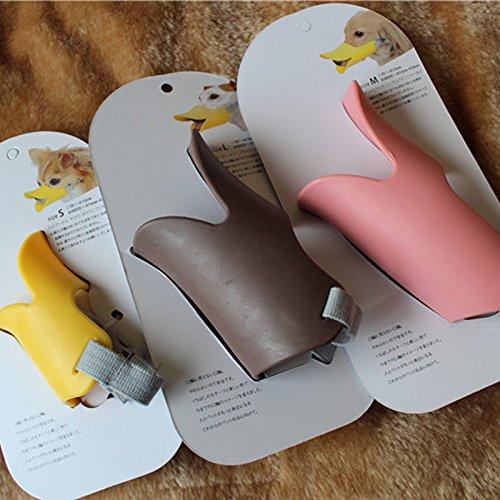 Pink Oppo Pet Small Dog Care Muzzle Quack Duck Bill Design Pet Protection L Size